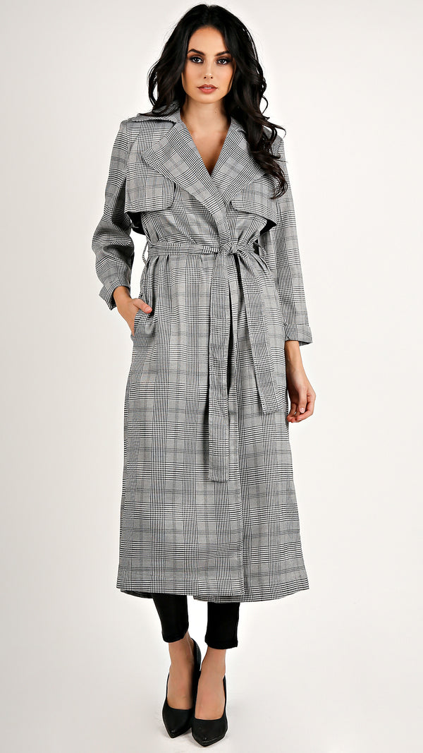 Plaid Trench Coat...