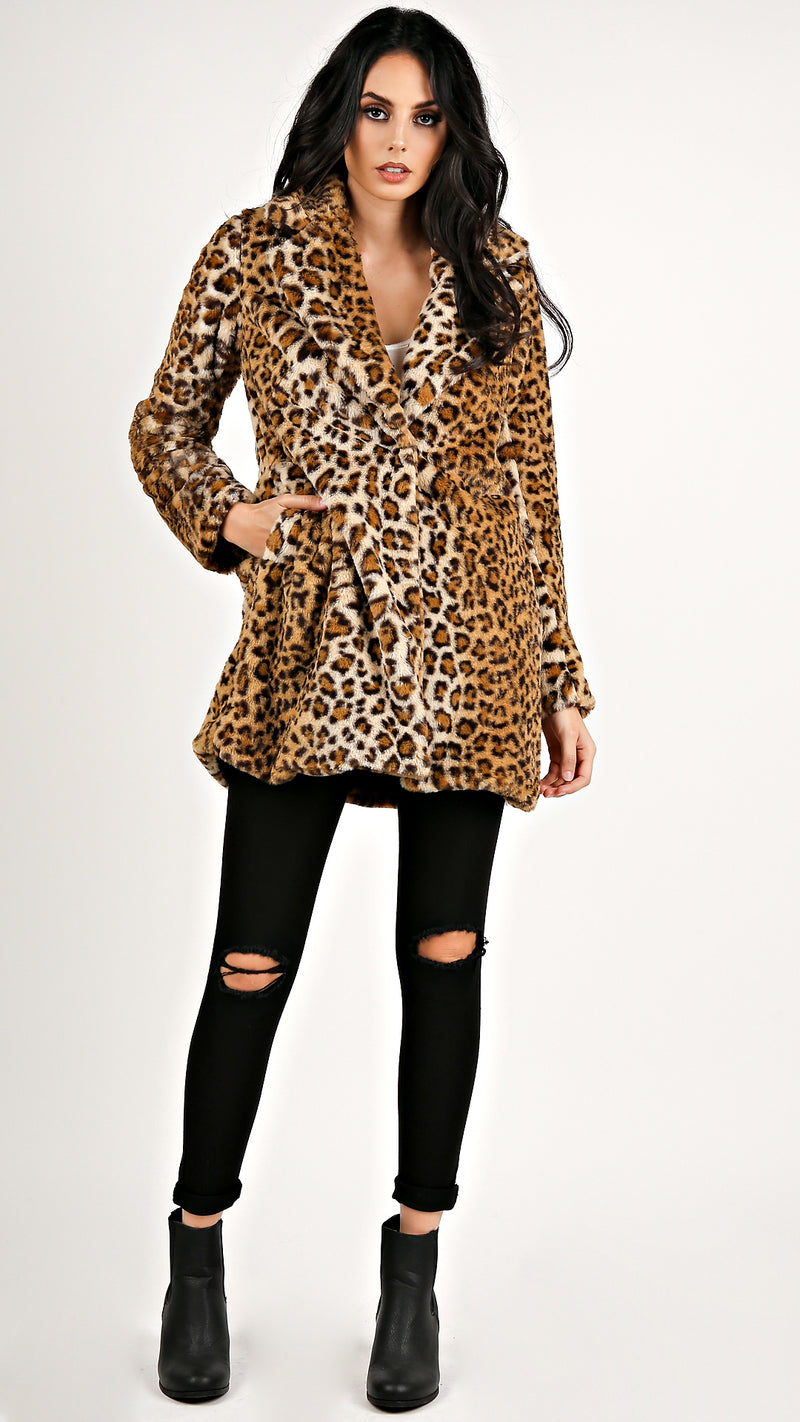 Leopard Fur Coat...