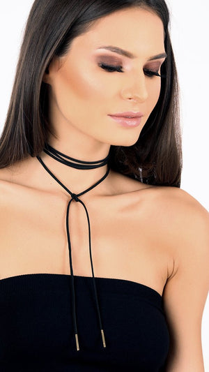 Metal Detail Wrap Choker