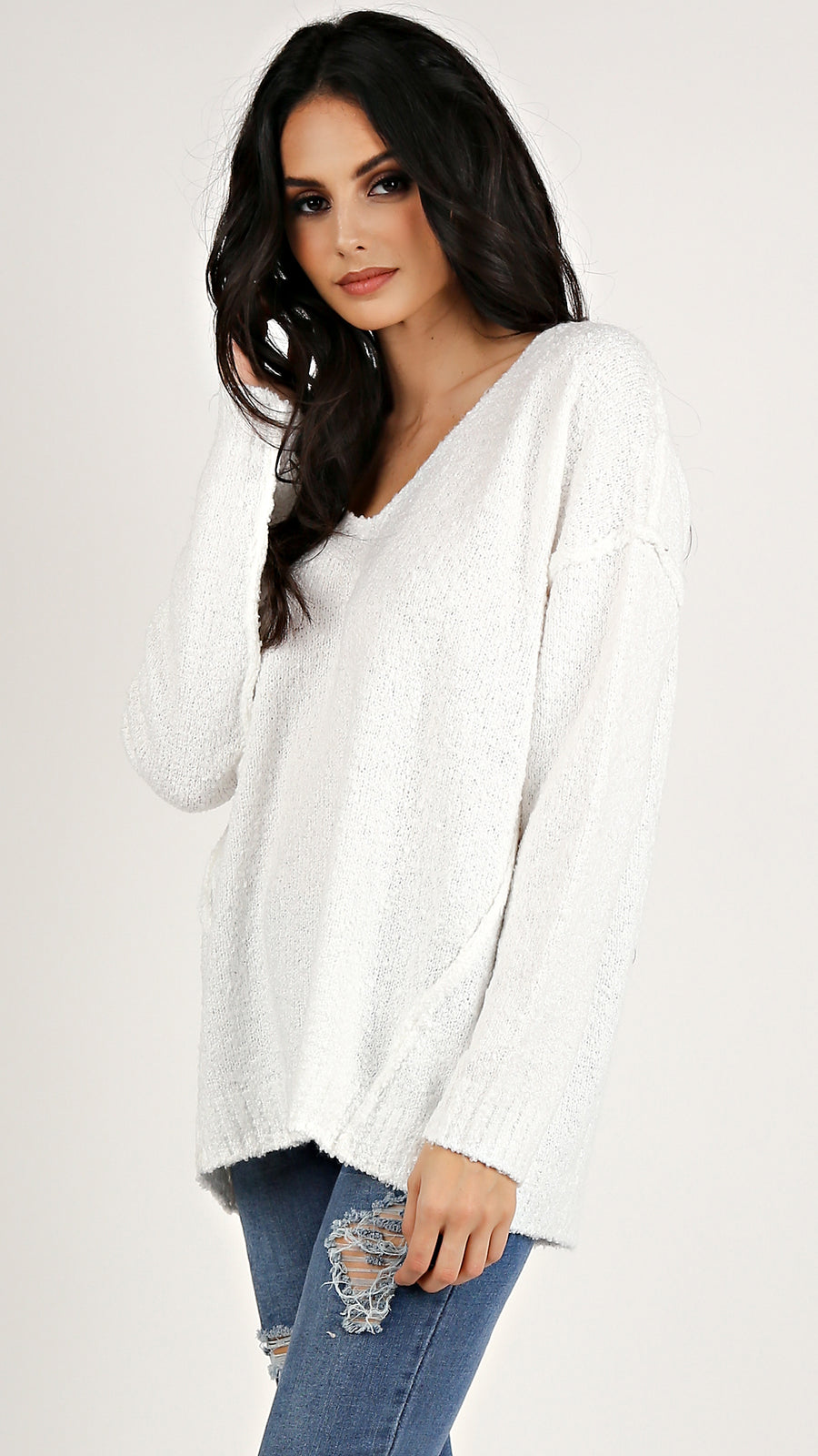 Soft Seam Detailed Sweater...