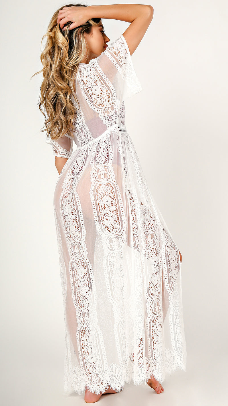Lace Maxi Cover Up