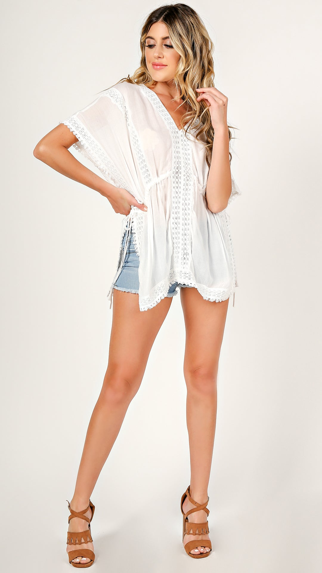 Crochet Inset Cover Up Top