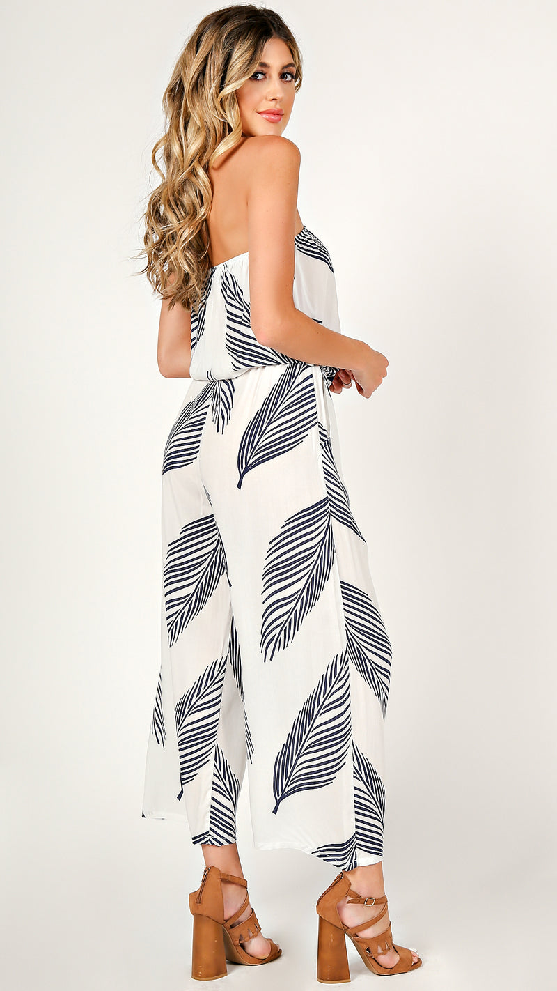 Palm Leaf Tube Jumpsuit