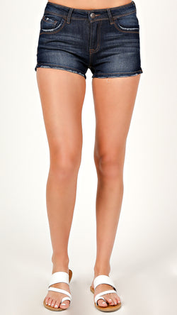 Dark Wash Denim Shorts - Msky