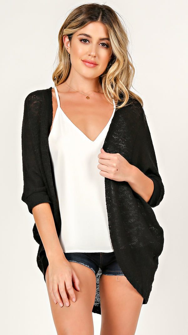 Open Front Sheer Cardigan