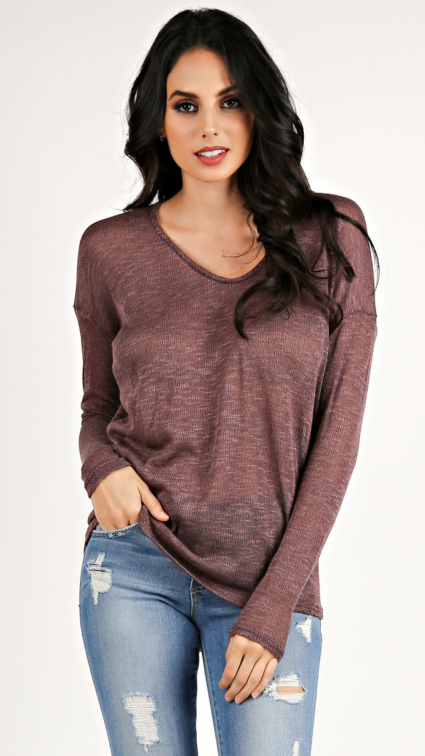 Knit Long Sleeve Top...