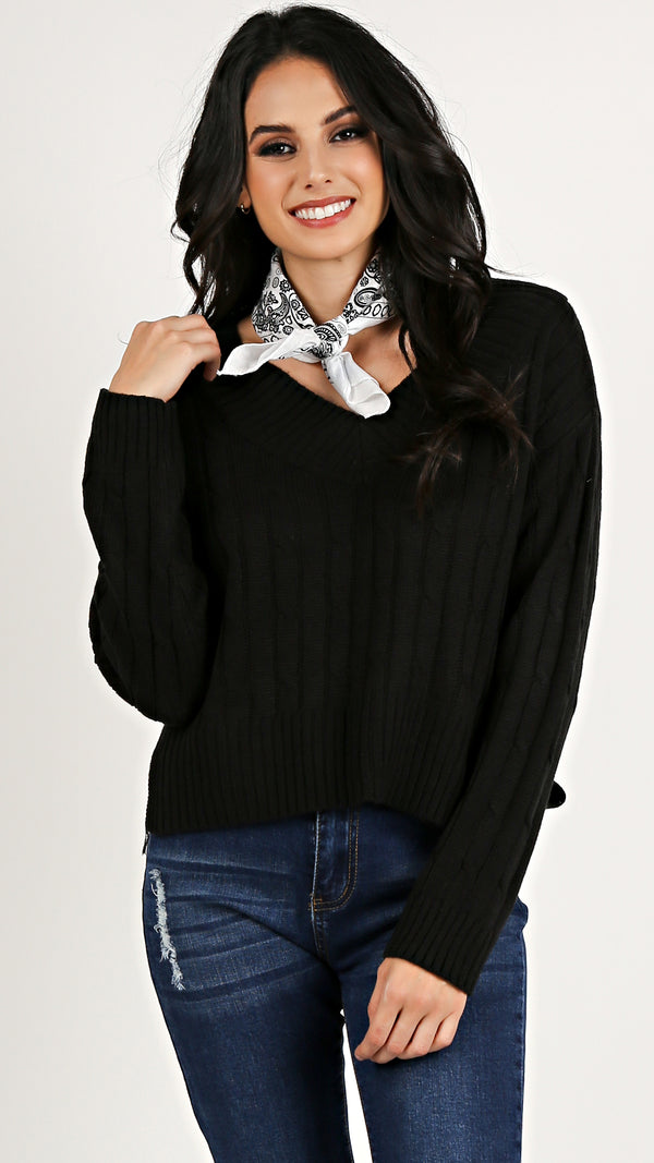 Cable Knit Sweater... - Msky
