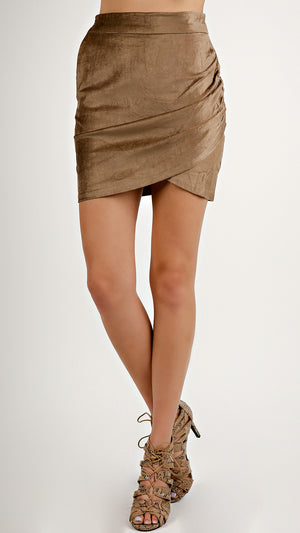 Velvety Mini Skirt...