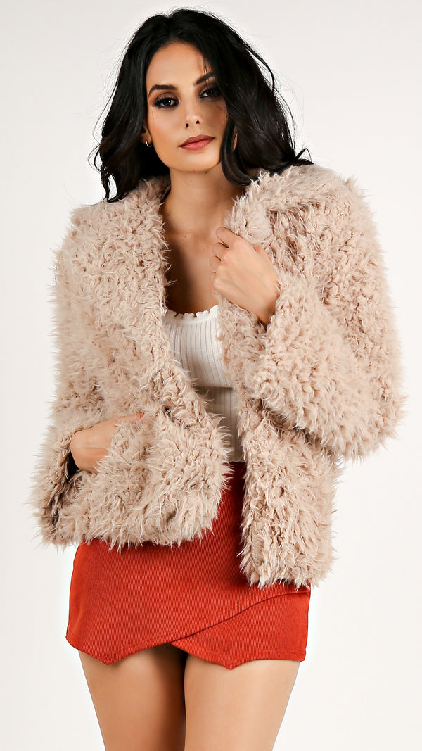 Dana Fuzzy Short Coat... - Msky