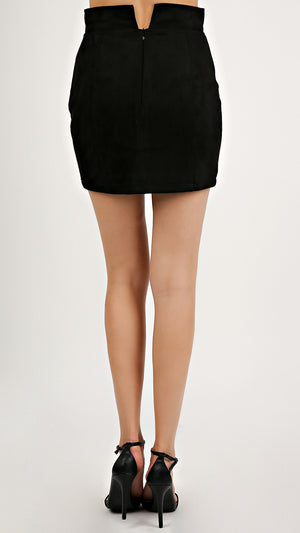 Faux Suede Skirt... - ANGL
