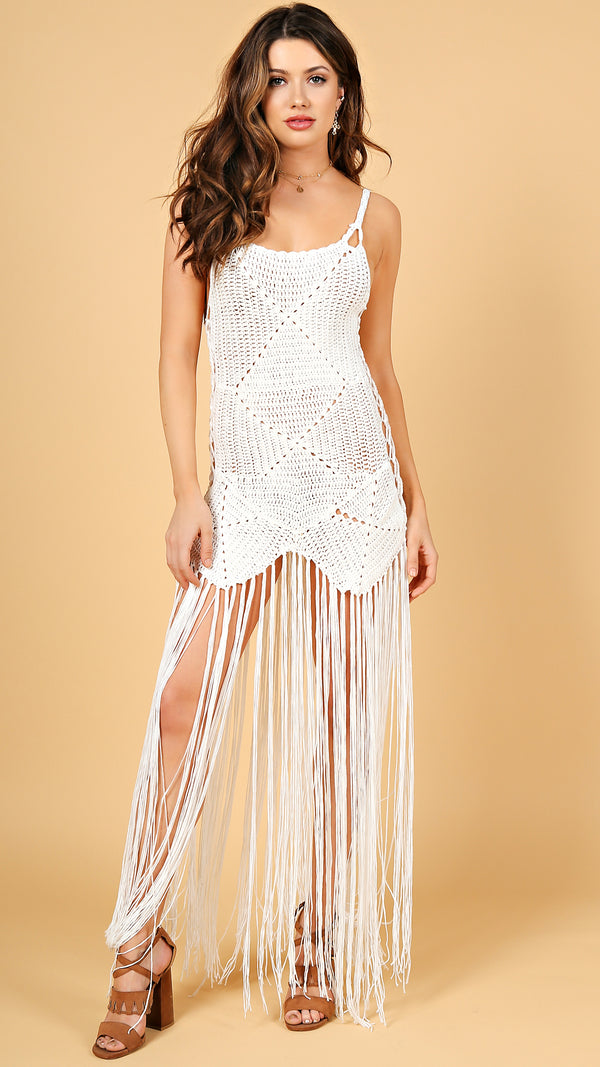 Indi Crochet  Fringe Dress
