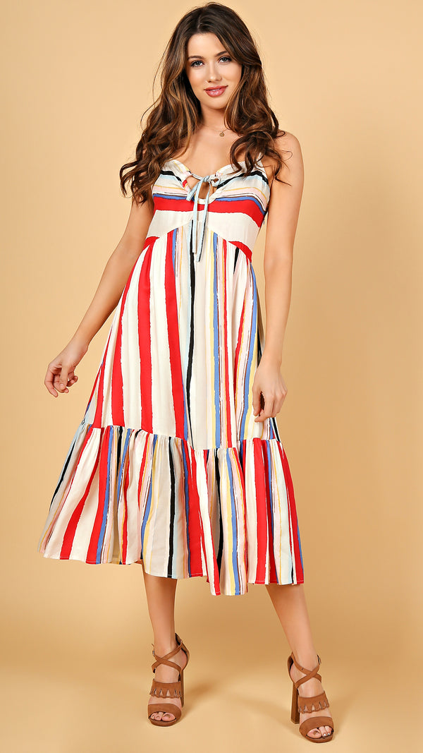 Sarah Striped Midi Dress