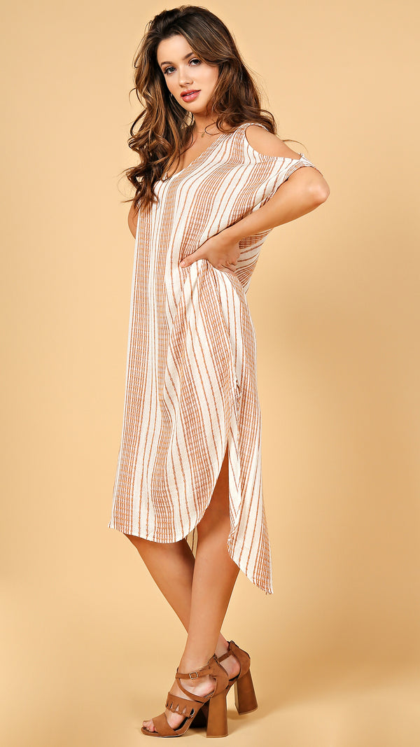 Olivia Striped Cover Up Dress