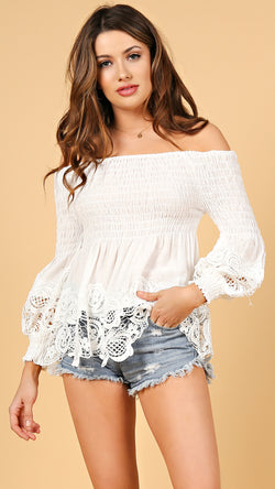 Lilly Lace Off Shoulder Top