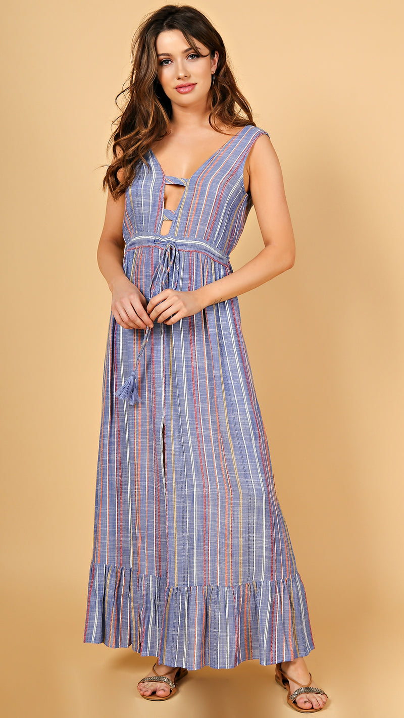 Stencil Striped Maxi Dress