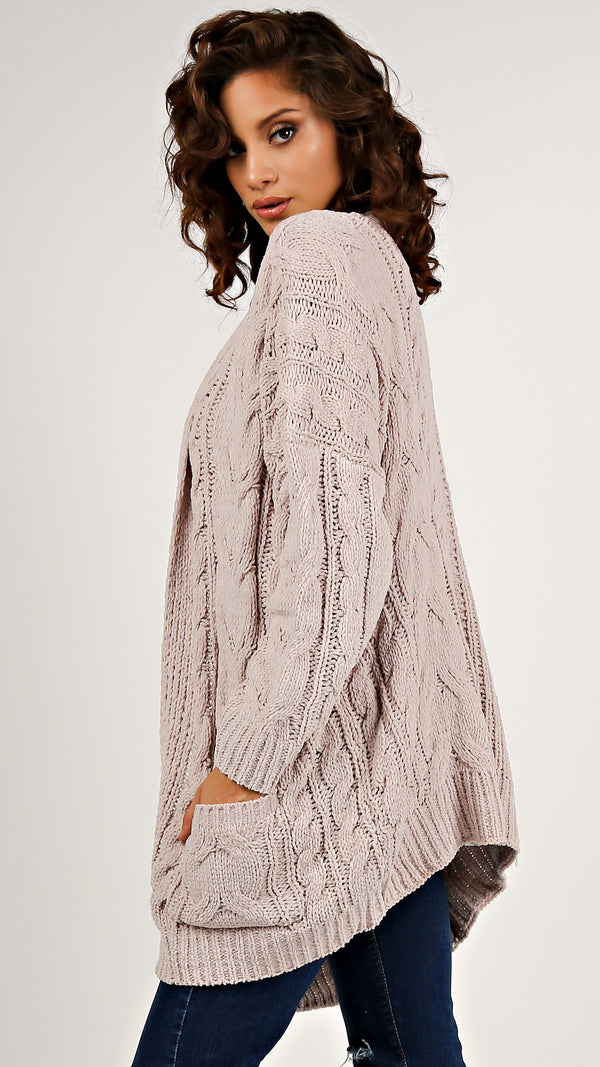 Sophie Cable Knit Cardigan...