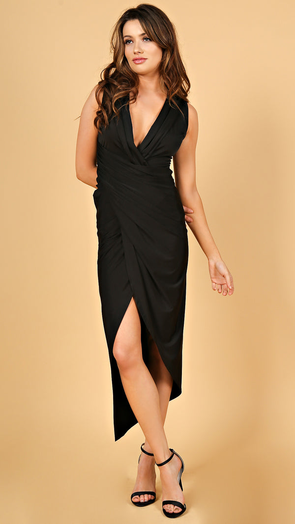 Chrystal Wrap Maxi Dress - Msky