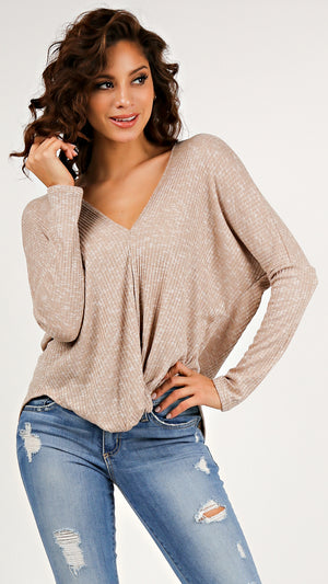 Cozy Sunday V-Neck Top