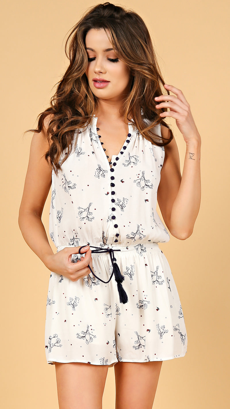 Alysa Button Down Romper - Msky
