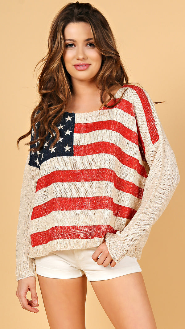 American Flag Sweater - Msky