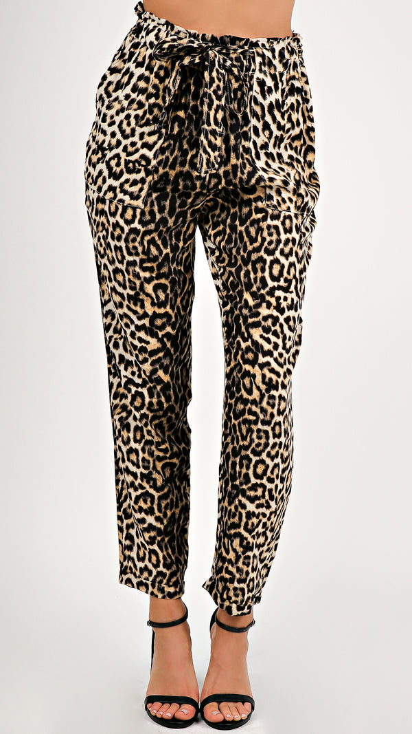 Leopard Drawstring Pants...