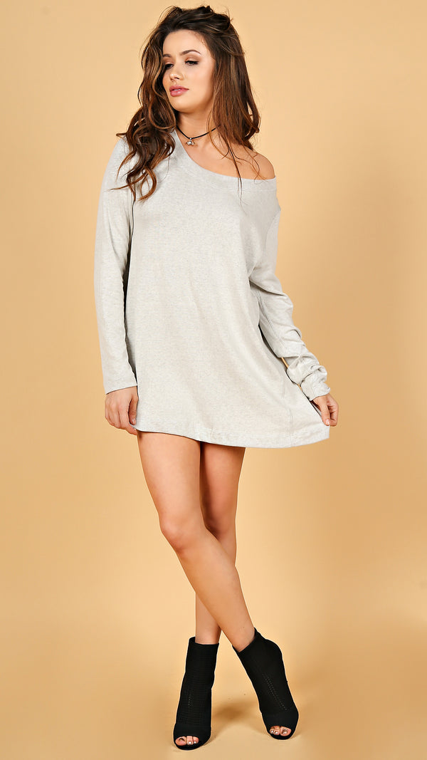Soft Long Sleeve Tunic Dress