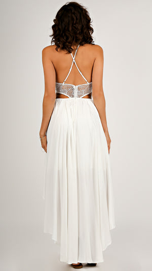 Lacey Cut-Out High Low Dress...