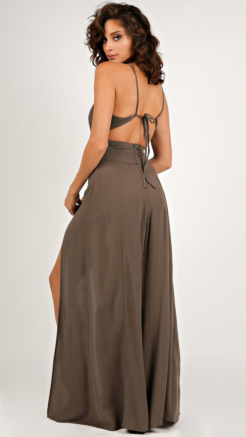 Boat Neck Open Back Jumpsuit - Msky