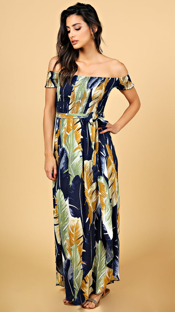 Julissa Off Shoulder Maxi Dress