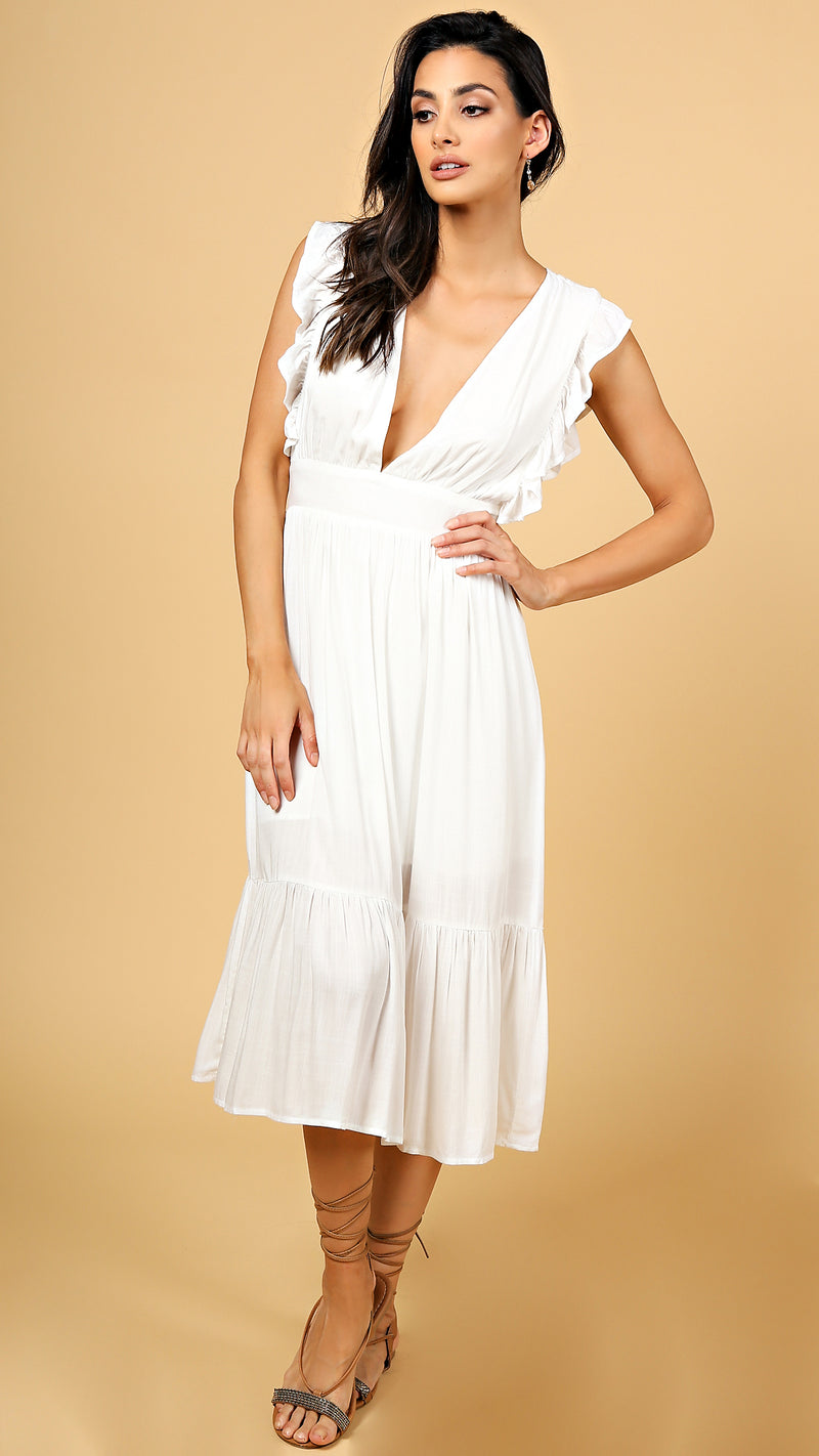 Heidi Ruffle Midi Dress