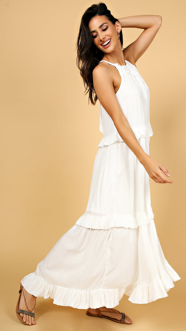 Summer Frills Maxi Dress