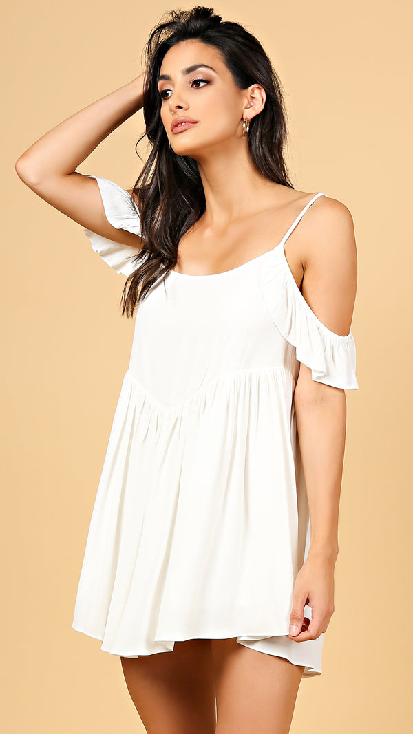 Dahlia Open Shoulder Mini Dress