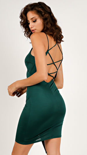 Strappy Asymmetrical Party Dress
