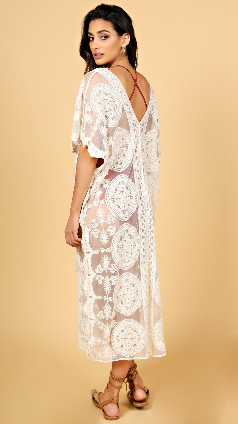 Kendall Crochet Cover Up Dress