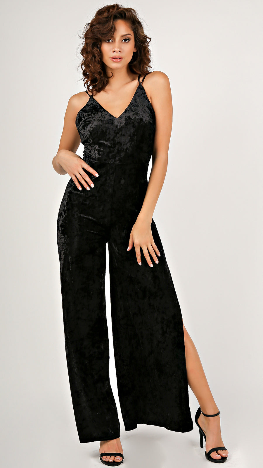 Leading Lady's Velvet Jumpsuit