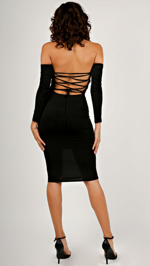 Off Shoulder Strappy Back Dress...