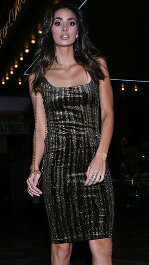 Black & Gold Party Dress