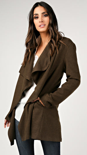 Wide Collar Wool Jacket