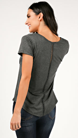 V- Neck Back Ladder T- Shirt