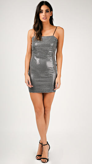 Melinda Sequin Cami Strap Dress