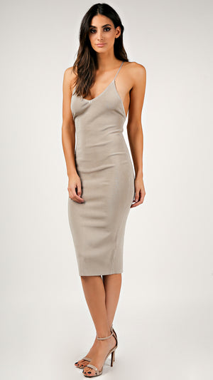 X-Back Bandage Pencil Dress