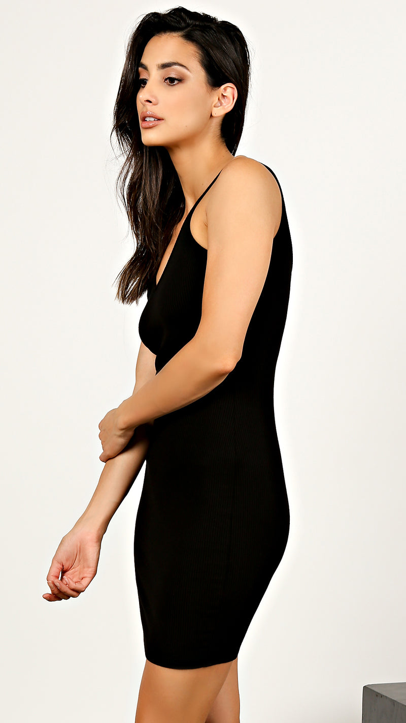 Basic Ribbed Tank Dress - Msky