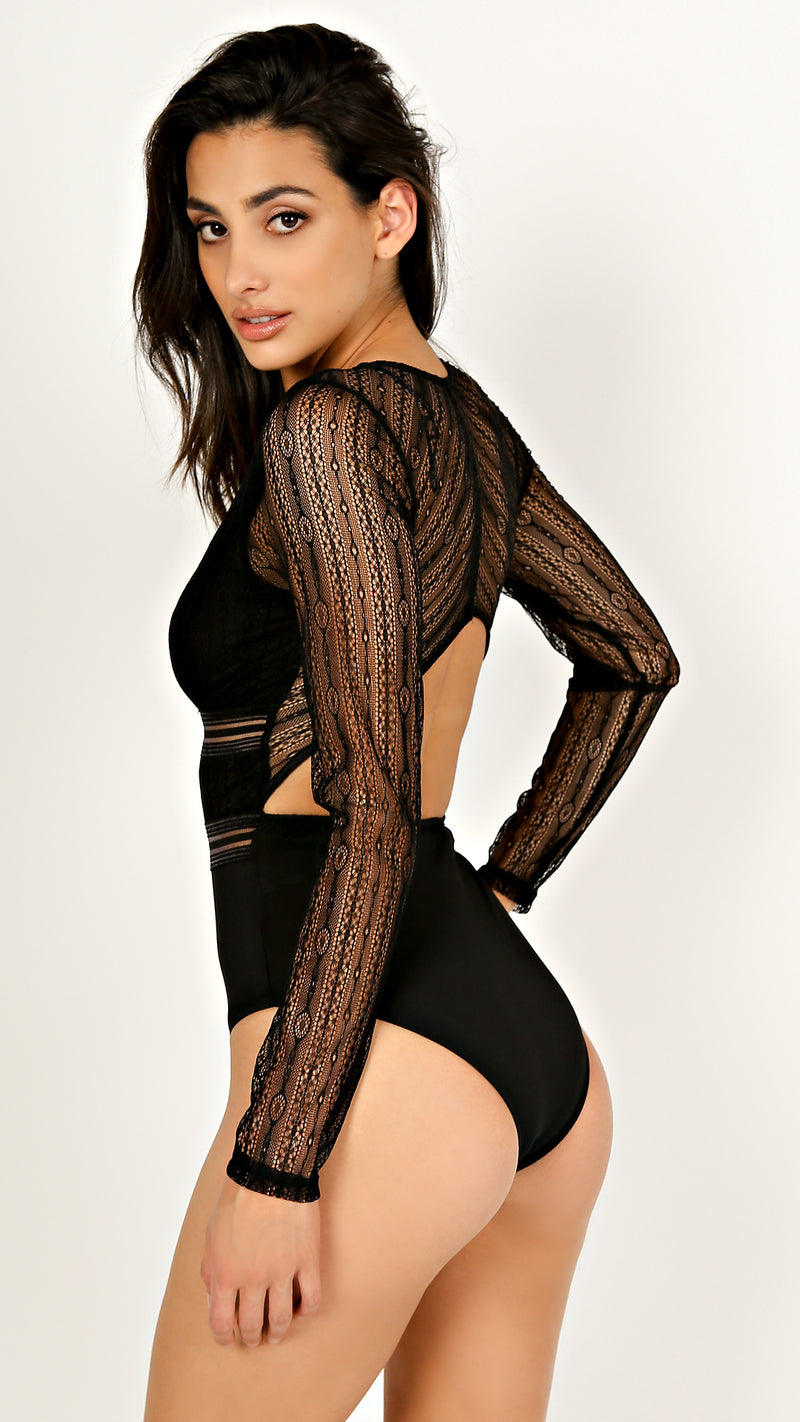 Layla Lace Long Sleeve Bodysuit