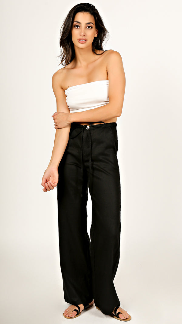 Ana High Waist Linen Pants - Msky