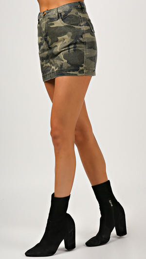 Camo Mini Skirt - ANGL