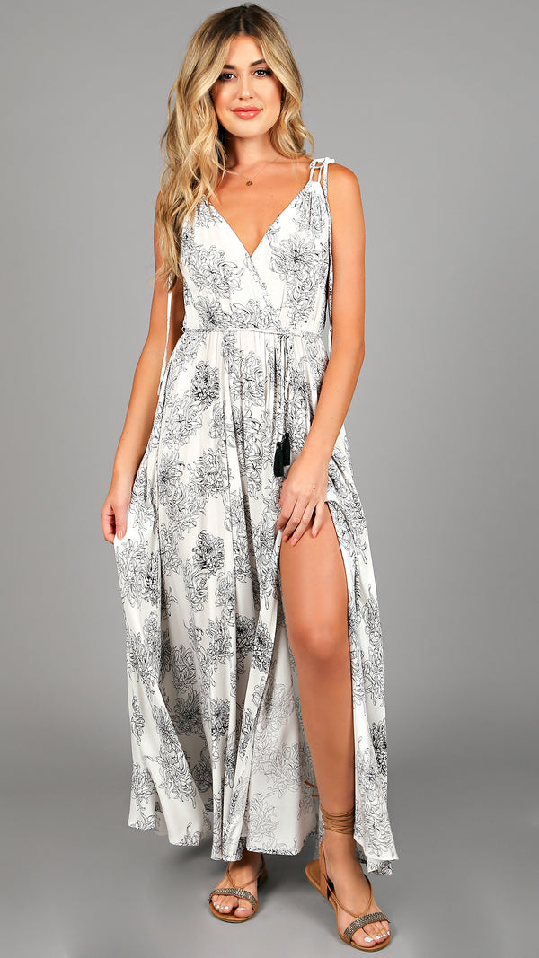 Audrina Floral Maxi Dress - Msky