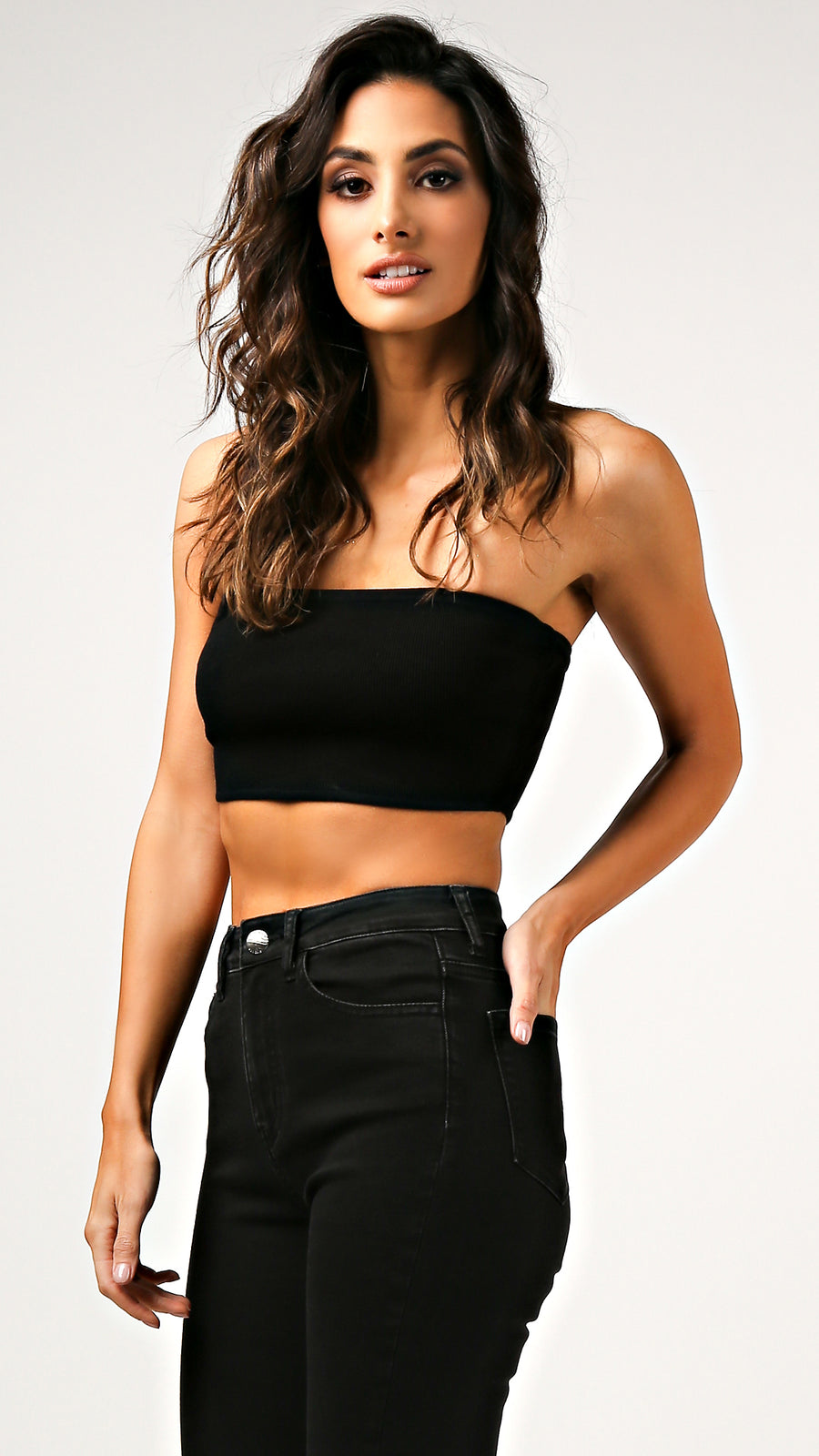 Emily Black Crop Top
