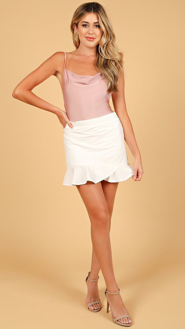 Abby Ruffle Trim Mini Skirt - Msky
