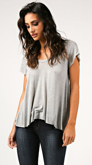 V-Neck Cap Sleeve Top