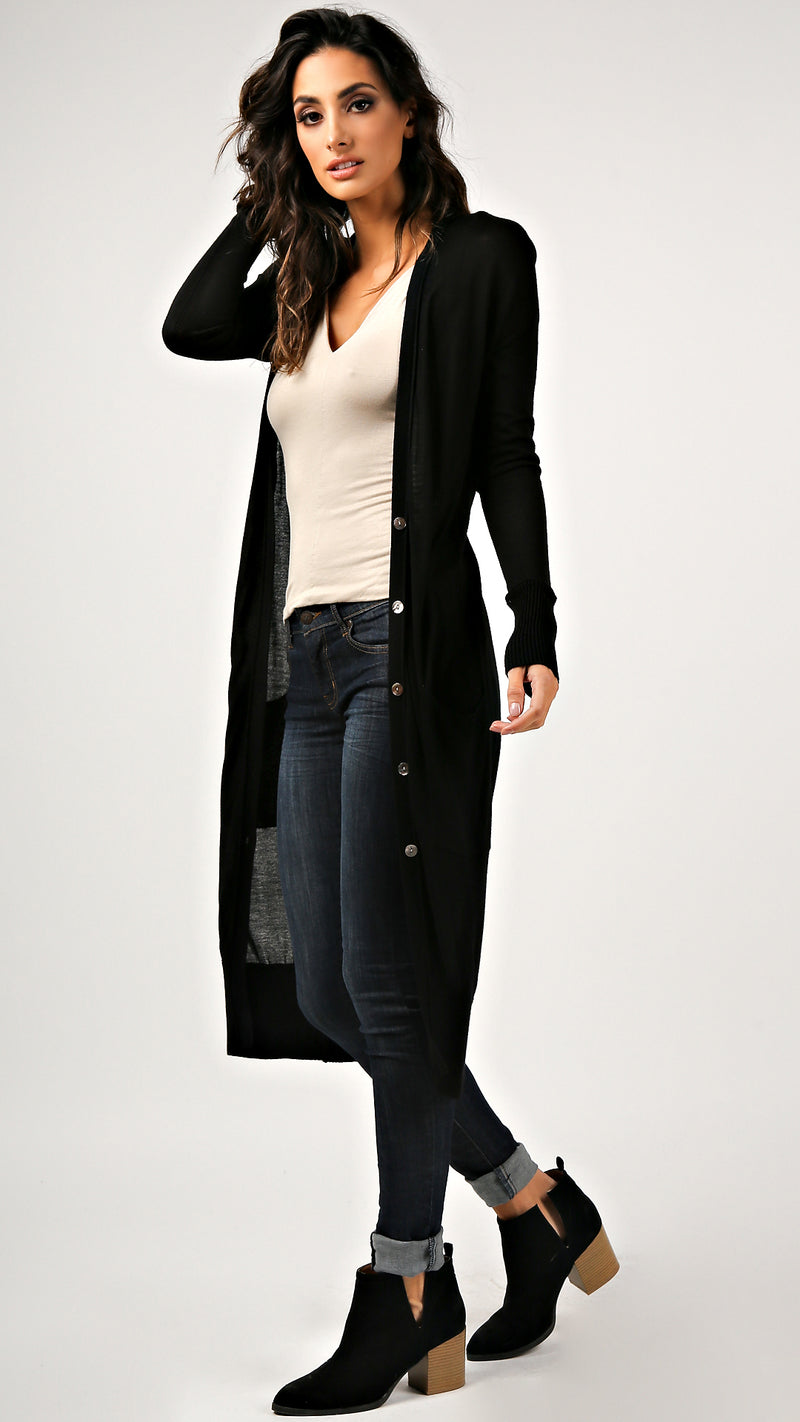Maxi Buttoned Cardigan